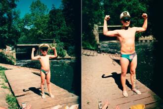 Inapoi in viitor: Cele mai interesante fotografii din copilarie, recreate la maturitate