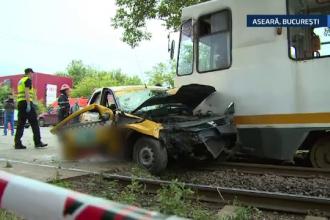 Sotia si fiul lui Dan Bursuc se aflau in taximetrul lovit de un tramvai, in Capitala. 5 persoane au fost ranite in accident