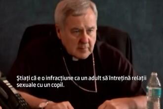 Raspunsul uluitor dat de un arhiepiscop la intrebarea: Stiati ca e o infractiune ca un adult sa faca sex cu un copil?
