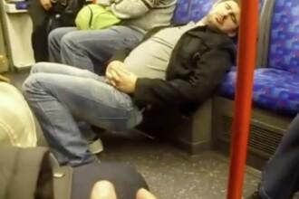 Moment amuzant la metroul din Londra. Cum a fost fotografiat un calator