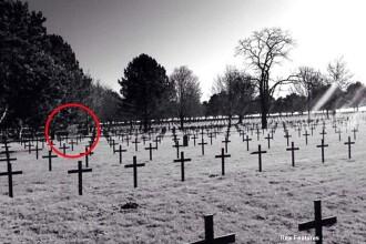 Ce a fotografiat un tanar intr-un cimitir de razboi.