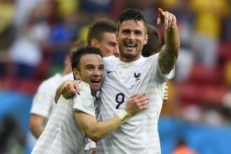 Campionatul Mondial de Fotbal 2014. Franta a invins Nigeria cu scorul de 2-0 si s-a calificat in sferturile de finala