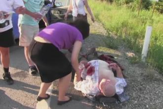Cinci raniti in urma unui accident rutier in Cluj. Un batran traieste datorita unui medic rezident aflat in zona