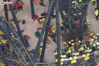 Ancheta dupa tragedia din parcul de distractii. Un ranit si-a pierdut piciorul dupa coliziunea vagoanelor din roller coaster