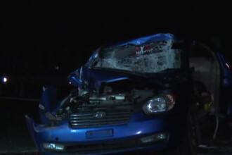 Accident cu semne de intrebare pe A1: unul dintre paznicii autostrazii a intrat intr-un TIR. Cine era cu el in masina