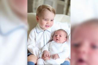 Primele imagini cu copiii Printului William si ai ducesei de Cambridge. Cum au fost fotografiati micutii George si Charlotte