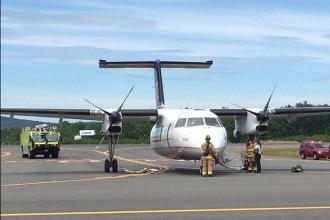 Un avion al companiei United Express a aterizat de urgenta, dupa ce un incendiu a izbucnit la bord: