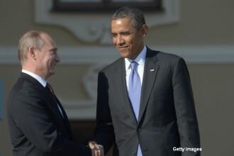 Vladimir Putin a vorbit la telefon cu Barack Obama. Subiectele discutate de cei doi lideri