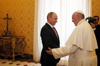 Papa Francisc îl va primi pe Vladimir Putin. S-au mai întâlnit în 2015