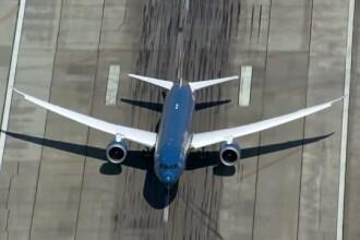 Noul Boeing 787, versiunea 9, este capabil de manevre demne de show-urile acrobatice, inclusiv decolare aproape la verticala