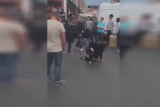 Trei tiganci prinse la furat intr-un magazin din Paris, batute si umilite de cetateni chinezi. VIDEO