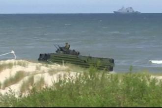 NATO a esuat un exercitiu militar, in Marea Baltica. Ce s-a intamplat cand militarii au incercat sa invadeze tarmul