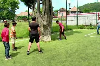 Solutia gasita de autoritati in cazul terenului de fotbal construit in jurul unui copac.