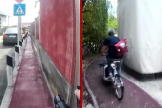 Orasul care are 2 piste de biciclete, dar niciuna nu poate fi folosita.