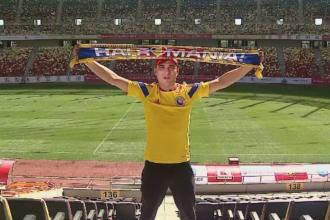 Suporterul care le cere tricolorilor sa fie asa cum e el in fiecare zi: LA INALTIME! Are colectie de bilete de la meciuri