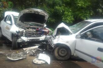 Accident grav in Constanta. Sase persoane au fost ranite, dupa ce doua masini s-au ciocnit frontal. VIDEO