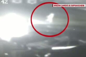 Incident grav in Bistrita. O masina de politie a explodat, iar anchetatorii cred ca focul a fost pus intentionat