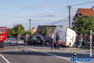 Doi morti si patru raniti pe E85, dupa un accident cu trei autovehicule. Patru din victime sunt cetateni straini