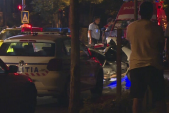 Masina a IPJ Ilfov, implicata intr-un accident in lant in Bucuresti. Ce a declarat soferul vinovat