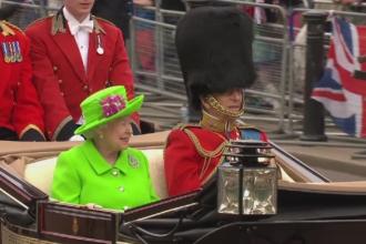 Parada grandioasa la Londra, in cinstea reginei Elisabeta. Un soldat a lesinat in timpul ceremoniei