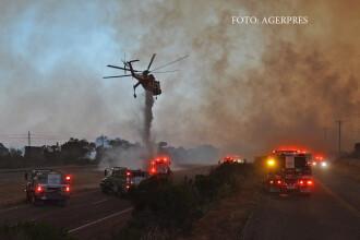 Incendiu urias in California. Peste 1.000 de pompieri se lupta cu flacarile, un oras ar putea fi evacuat