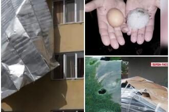 Tornadele si ploile cu grindina uriasa au provocat dezastru. Metoda gasita de oameni pentru a-si proteja masinile de gheata