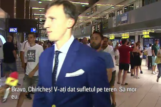 Nationala Romaniei asteptata pe aeroport de fani dezamagiti: