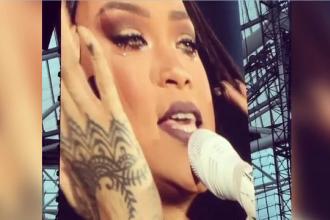 Rihanna a izbucnit in lacrimi la concertul din Dublin. Ce melodie canta in momentul in care a inceput sa planga