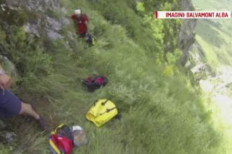 Turist maghiar, salvat dupa o interventie care a durat sase ore. Ramasese blocat la 60 de metri inaltime