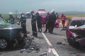 Grav accident pe DN1, in Brasov. Patru morti si doi raniti dupa ce o soferita a pierdut controlul masinii. FOTO