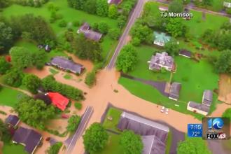 Inundatii grave in SUA. 23 de oameni au murit in Virginia occidentala, s-au deschis zeci de centre pentru sinistrati. VIDEO