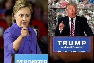 Surpriza in cursa pentru prezidentiale in SUA. Ce diferenta arata cel mai nou sondaj intre Hillary Clinton si Donald Trump