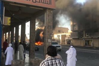 Explozie uriasa intr-un oras din Arabia Saudita. Cel putin 2 oameni au fost ucisi. FOTO si VIDEO