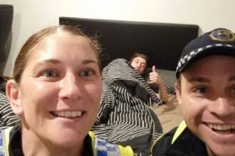 Ce au facut doi politisti dupa ce l-au dus pe un barbat baut acasa. A doua zi a avut parte de o surpriza. FOTO