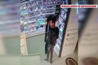 Doi tineri, surprinsi de camere cand furau intr-o farmacie. Ce au aflat patronii dupa ce au pus imaginile pe Facebook