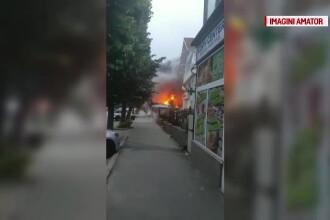 Explozie in centrul orasului Pitesti, 3 cladiri distruse. Ce au gasit pompierii in interiorul lor