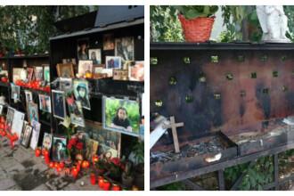 Altarul ridicat in memoria victimelor Colectiv a fost vandalizat: