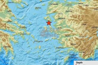 Cutremur puternic in Marea Egee, care s-a resimtit in Grecia si Turcia. Seismul s-a produs la 5,7 km adancime
