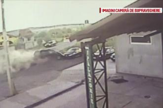 Accident grav, miercuri dimineata, pe o sosea din Gorj. A plonjat cu masina pe un camp dupa ce un alt sofer i-a taiat calea