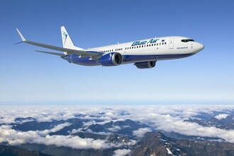 Blue Air a lansat în România un avion inedit. Cum arată fuselajul