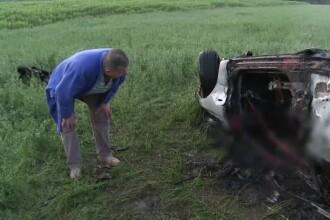 Un om de afaceri din Buzau a murit ars de viu, intr-un Lexus. Martor: