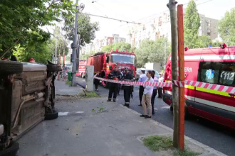 Barbatul ranit grav in accidentul din Capitala este in coma, cu traumatism cranio-cerebral si contuzii pulmonare