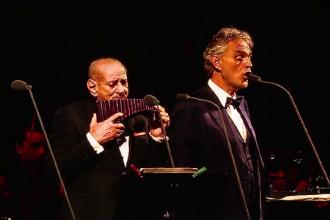 Concert Andrea Bocelli, la Cluj. Cel mai impresionant moment al serii, duetul cu Gheorghe Zamfir