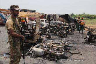 Bilantul a urcat la 153 de morti dupa explozia din Pakistan. Sute de oameni au fost cuprinsi intr-o sfera uriasa de foc