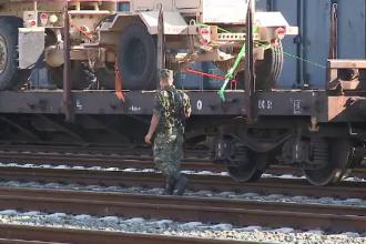 Militar american electrocutat in Gara Curtici. Soldatul insotea un convoi militar si s-ar fi urcat pe un vagon