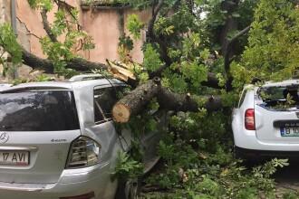 Sute de localitati din zece judete, afectate de furtuna care a smuls sute de acoperisuri. Mai multi oameni au fost raniti