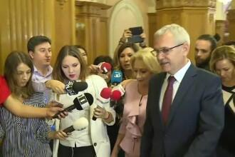 Dragnea s-a enervat din nou din cauza jurnaliștilor care încercau să-i pună întrebări lui Dăncilă