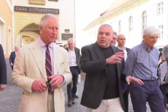 Prințul Charles a vizitat Sibiul, unde va începe Festivalul Internaţional de Teatru