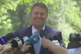 "Klaus Iohannis, întrebat despre o posibilă suspendare a sa: ""Ha, ha, ha"""
