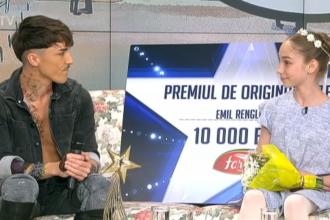 """Emil Rengle a donat premiul de originalitate de la """"Românii au talent"""" concurentei de pe locul doi"""
